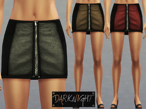 Leather Zipper Skirt (My 200th Creation for TSR) by DarkNighTt