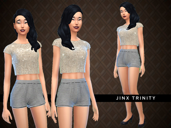 Exclusive wear Glittery gold and Houndtooth by JinxTrinity