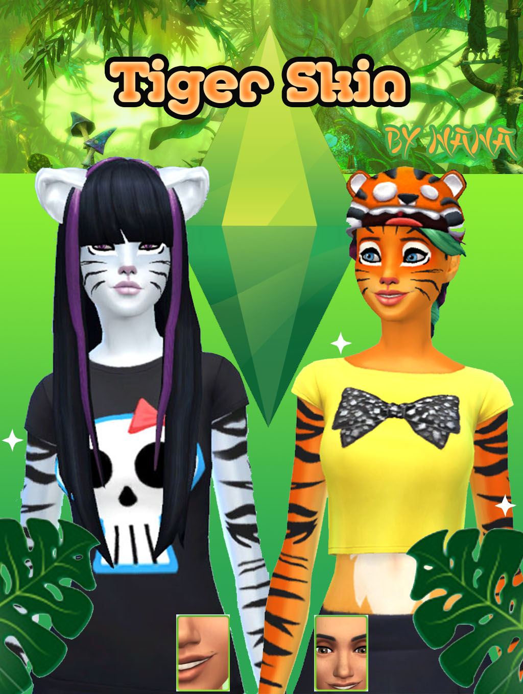 Tiger skin for females 3 colors by NANA