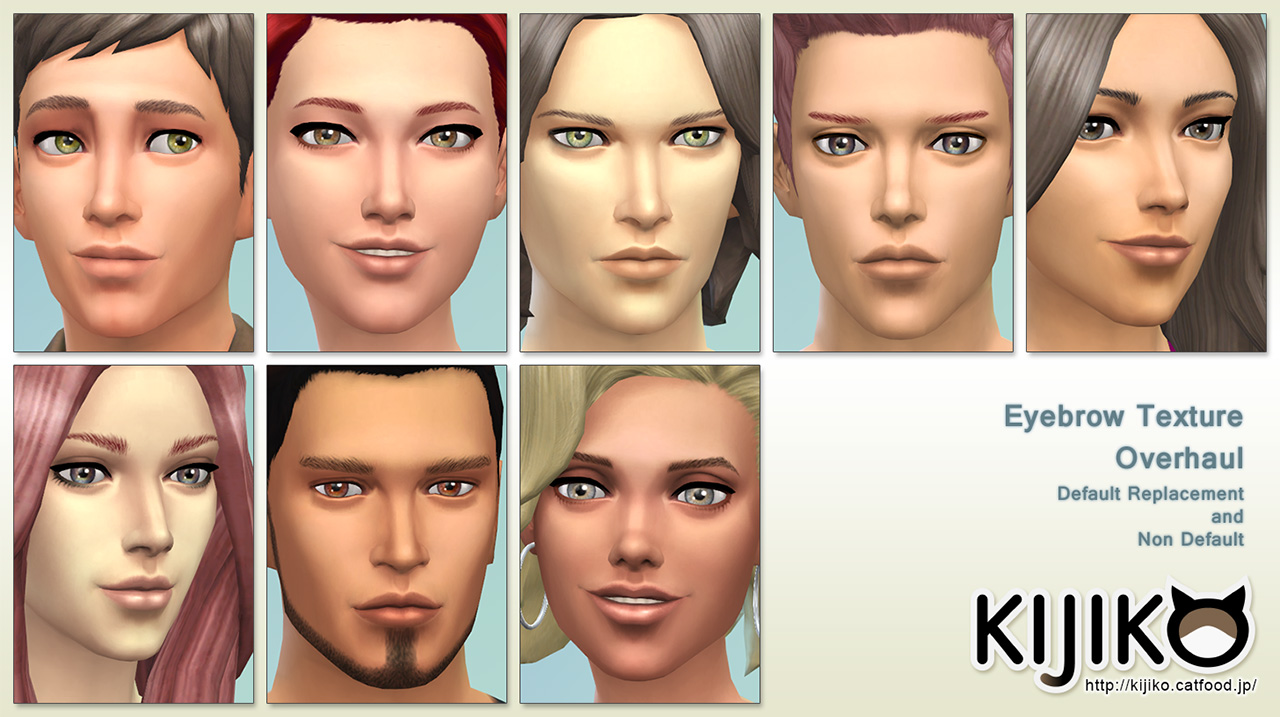 Eyebrow Texture Overhaul at Kijiko