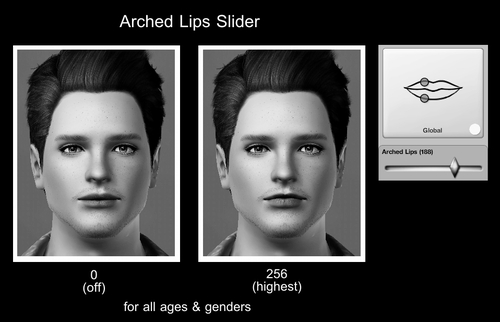 Arched Lips Slider by Centaurisundown