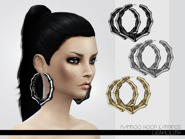 LeahLillith Bamboo Hoop Earrings by Leah Lillith