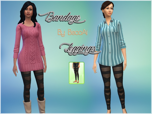 Bandage Leggings by BeccAi