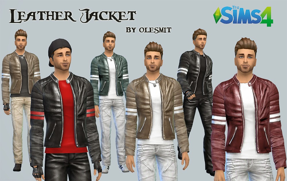 Edited Leather Jackets for Males by Olesmit