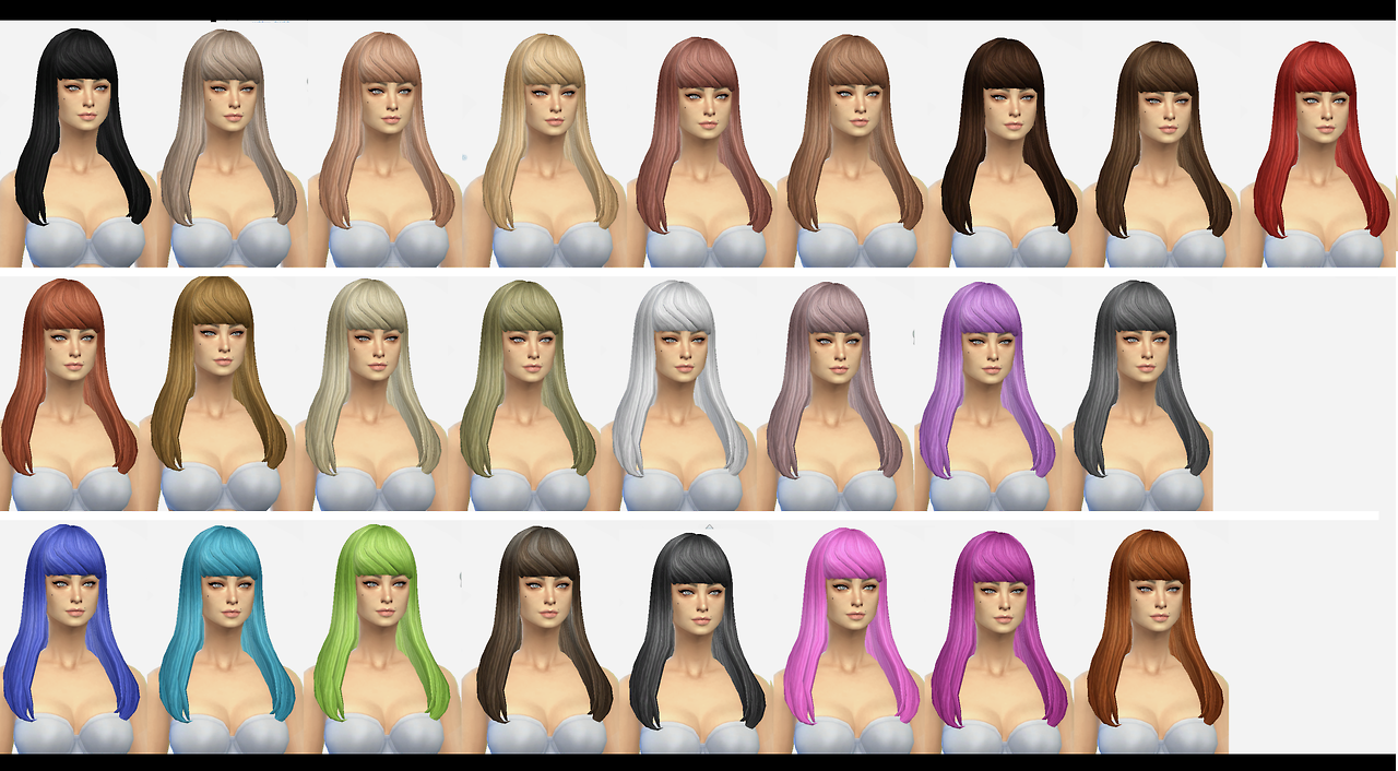 New Hair Mesh for Females by Simaniacos