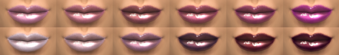 12 Custom Fantasy Lip Gloss Colors by The Simperience