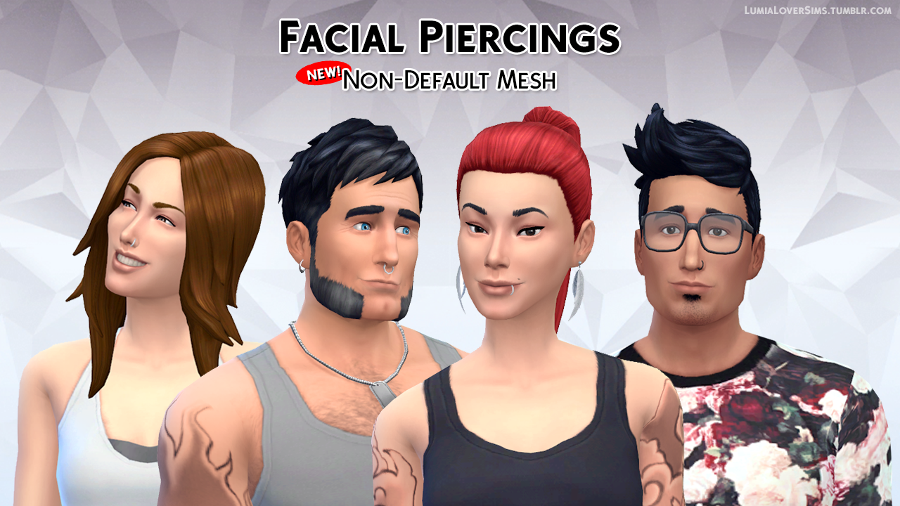 Facial Piercings by LumiaLover