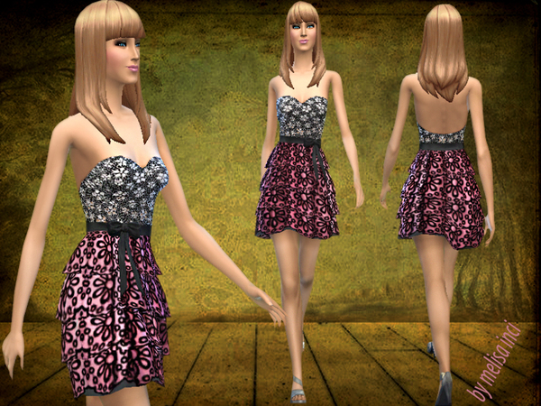 Top Stones Frilly Dress by melisa inci