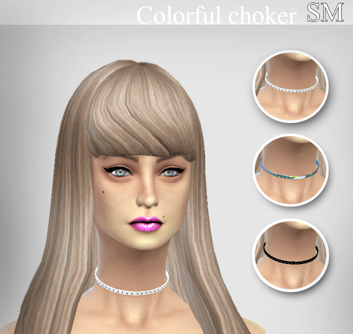 Colorful Choker by Simaniacos