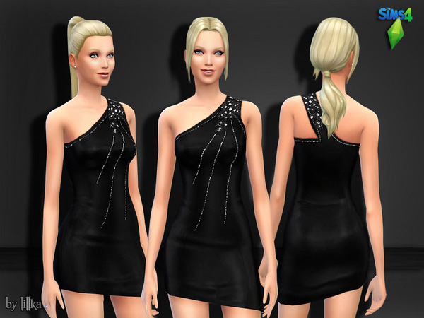 Black Dress with Shimmering Sequins by lillka