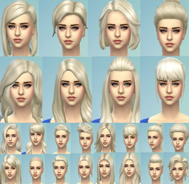 Targaryen Blonde - New Colour for All Teen to Adult Female Hairstyles by Kellyhb5