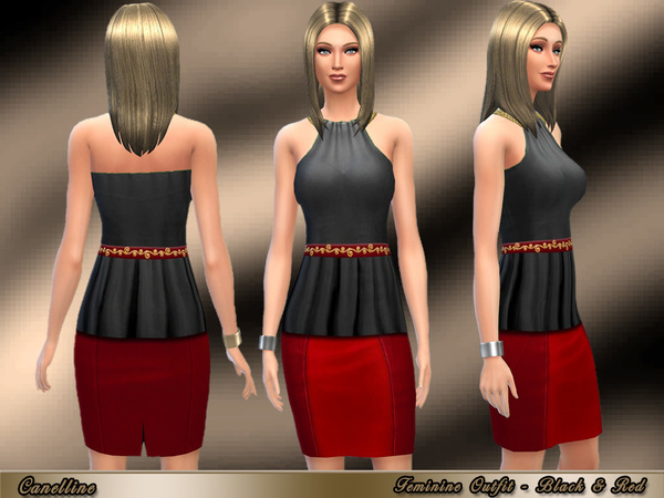 Feminine Outfit in Two Colors by Canelline