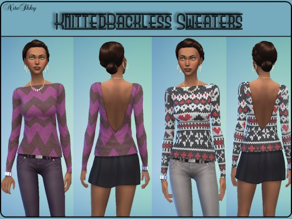 Knitted Backless Sweaters by Misdreavus