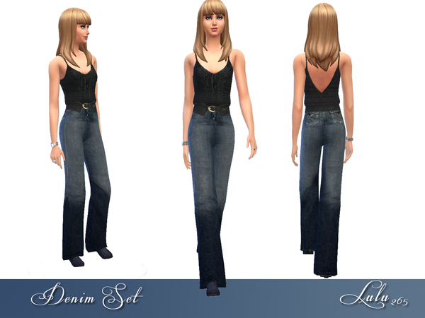 Teen Denim Set by Lulu265