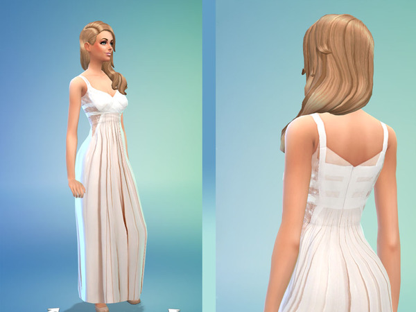 White Dress Ellie Saab Copy by marisska19