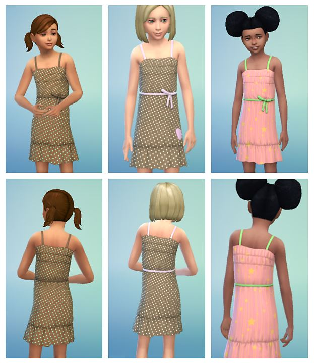 Dresses for Girls by SimFeetUnder