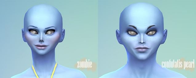 Alien and Zombie non-default Eyes by Bonehildastreasurechest