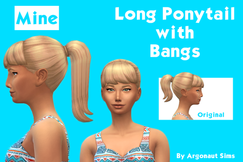 Long Ponytail with Bangs Edit by Argonautsims