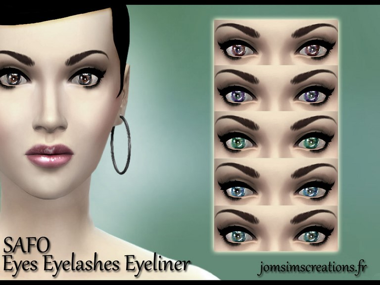 Eyelashes Eyeliner by JomSims