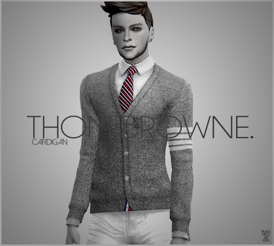 Thom Browne Cardigans for Males by Black