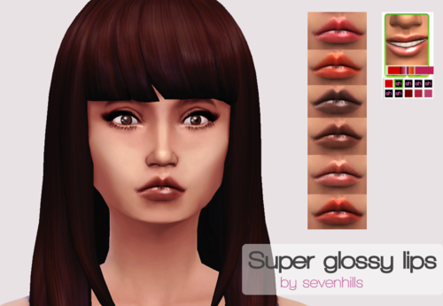 Super Glossy Lips by SevenhillsSims