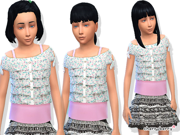 Ruffle clothing set for girls by CherryBerrySim