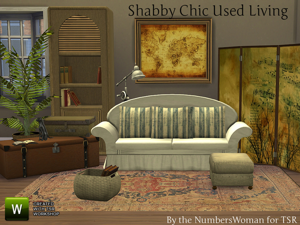 Shabby Chic Used Living Room by TheNumbersWoman