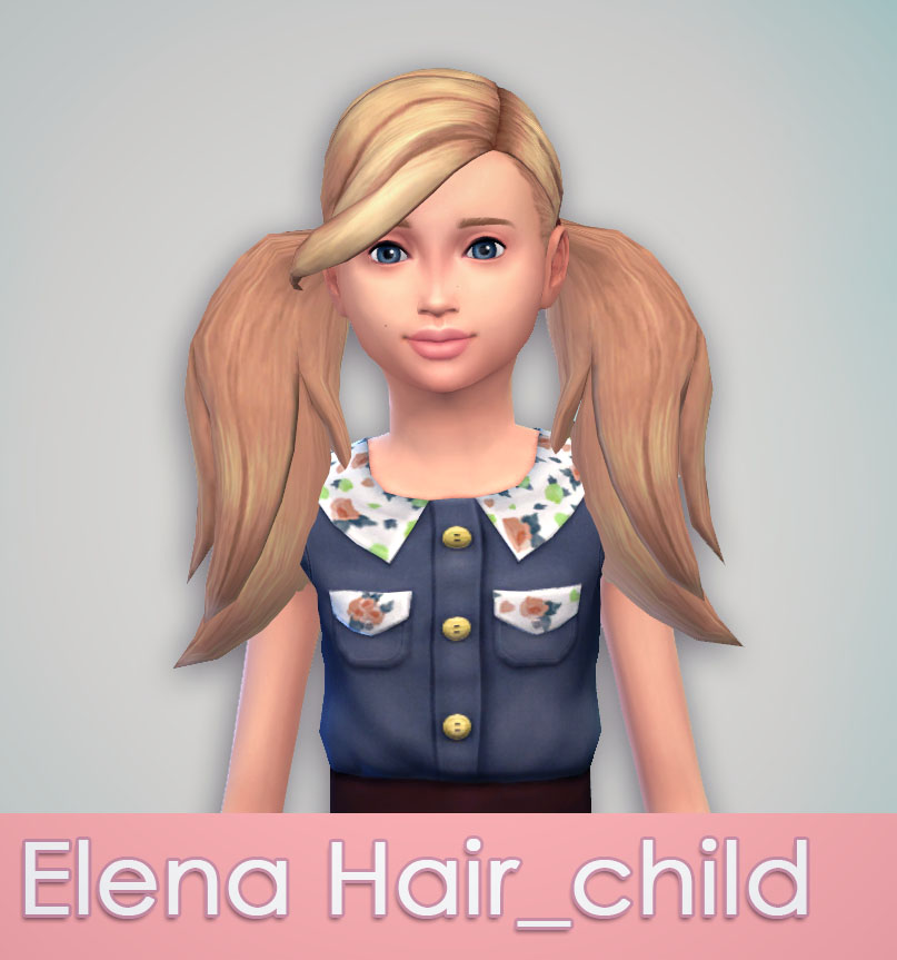 Elena Hair for child by Uktrash