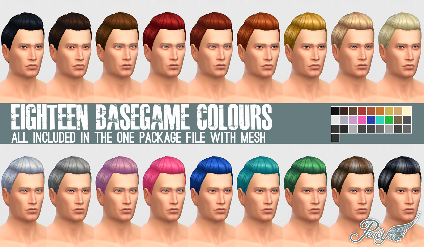 Peacemaker ic Sleek Pompadour Female to Male Conversion Hair