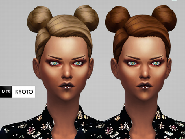 Kyoto - Hairstyle by MissFortune Sims