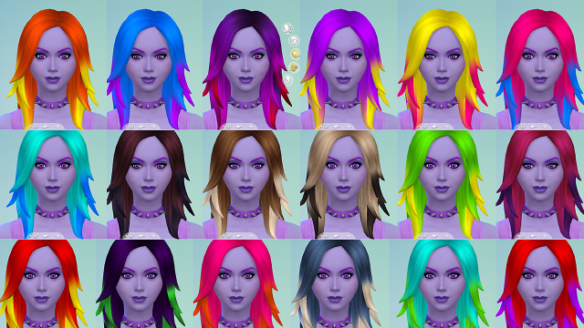 Colorful Ombre Rocker Recolors by Starssugarypixels