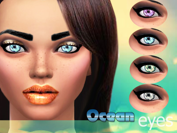 Ocean eyes by Pinkzombiecupcakes