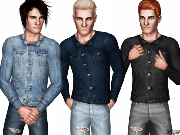 Men's Jean Jacket by zodapop