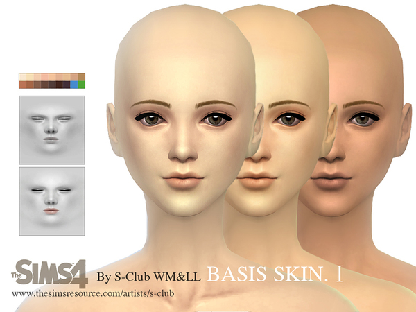 S-Club WMLL thesims4 BASSIS skintones