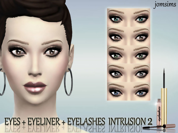 Eyes + Eyeliner + Eyelashes INTRUSION 2 by jomsims
