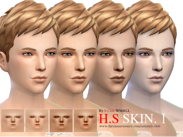 S-Club WMLL thesims4 HS skintones