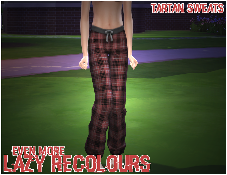 Tartan Sweats Recolors by Cowplantsinspace