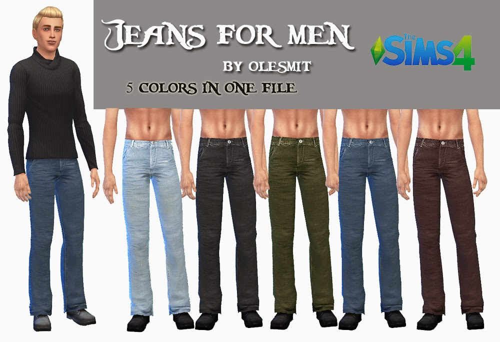 Fixed Jeans for Males by Olesmit