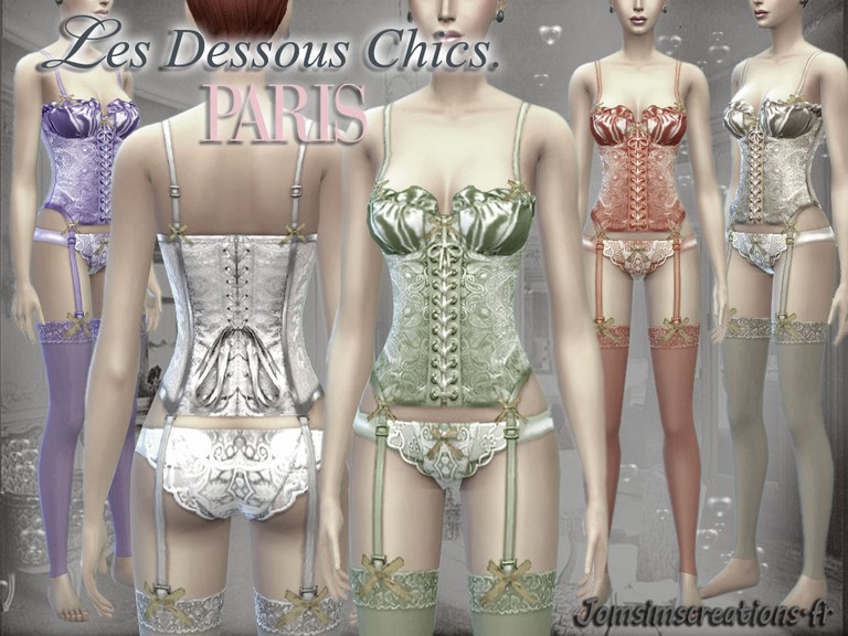 Satin & Lace Lingerie by JomSims