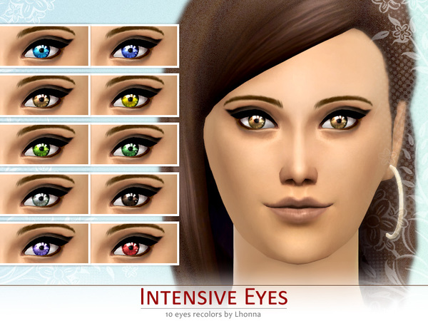 Intensive Eyes (non-default recolors) by Lhonna