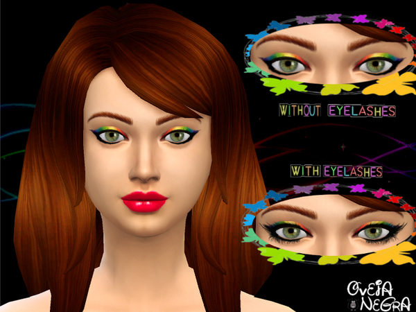 Rainbow Eyeliner (With And Without Eyelashes) by OvejaNegra