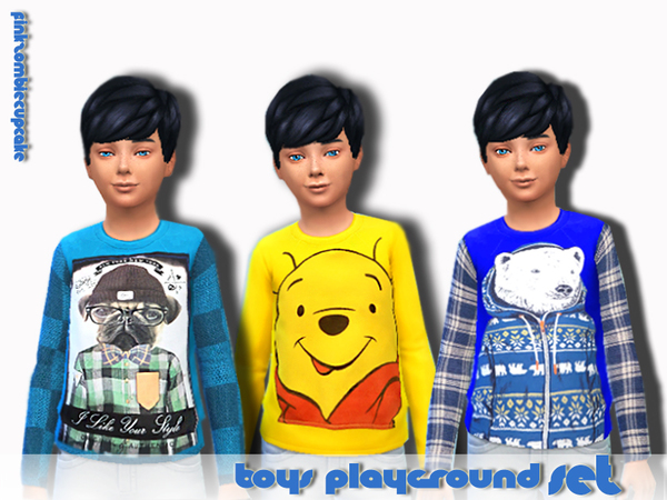 Boys playground set by Pinkzombiecupcakes