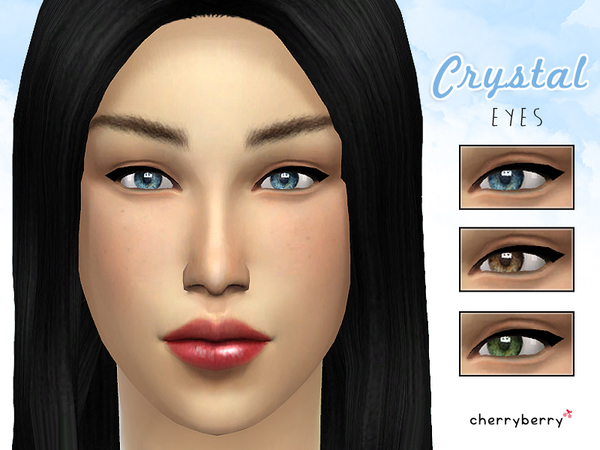 Crystal eyes NON DEFAULT by CherryBerrySim
