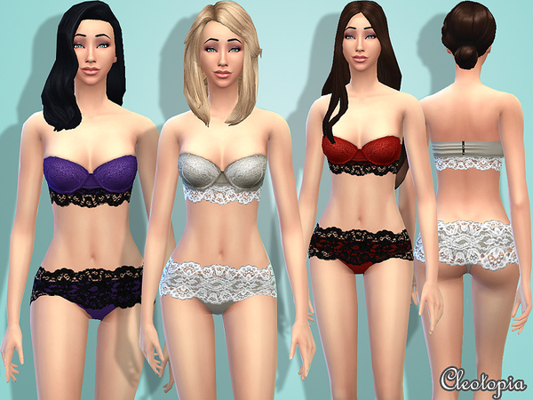 Set1- Lace Strapless Lingerie by Cleotopia