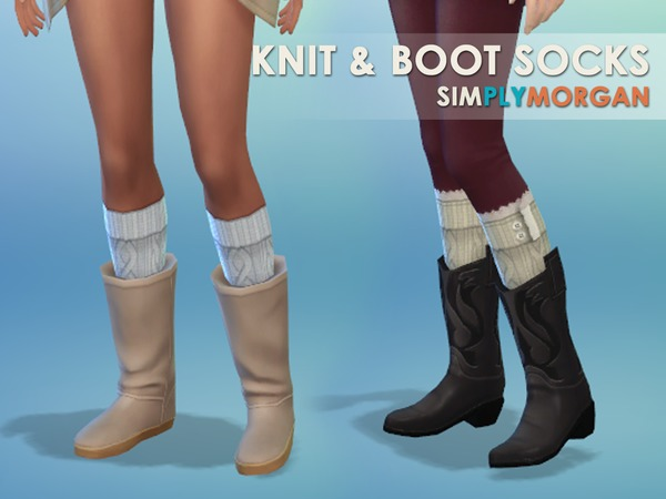 Boot and Knit Sock Set (Adult Female & Child Universal) by SimplyMorgan77