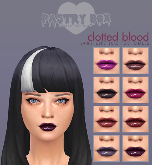 Clotted Blood Vampy Lipstick by CreepyBox