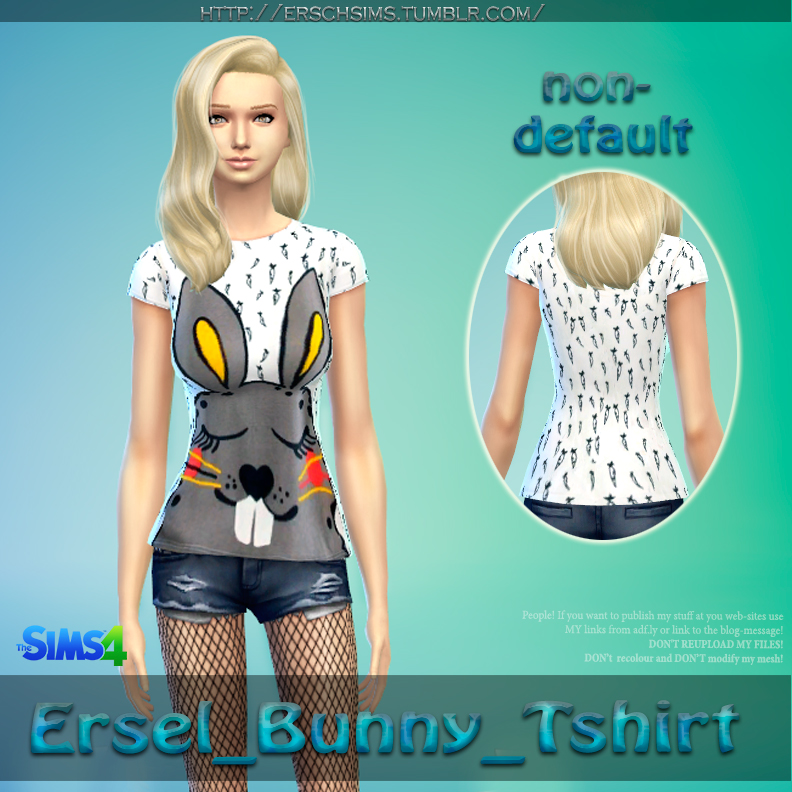 Bunny Shirt for Females by Ersel