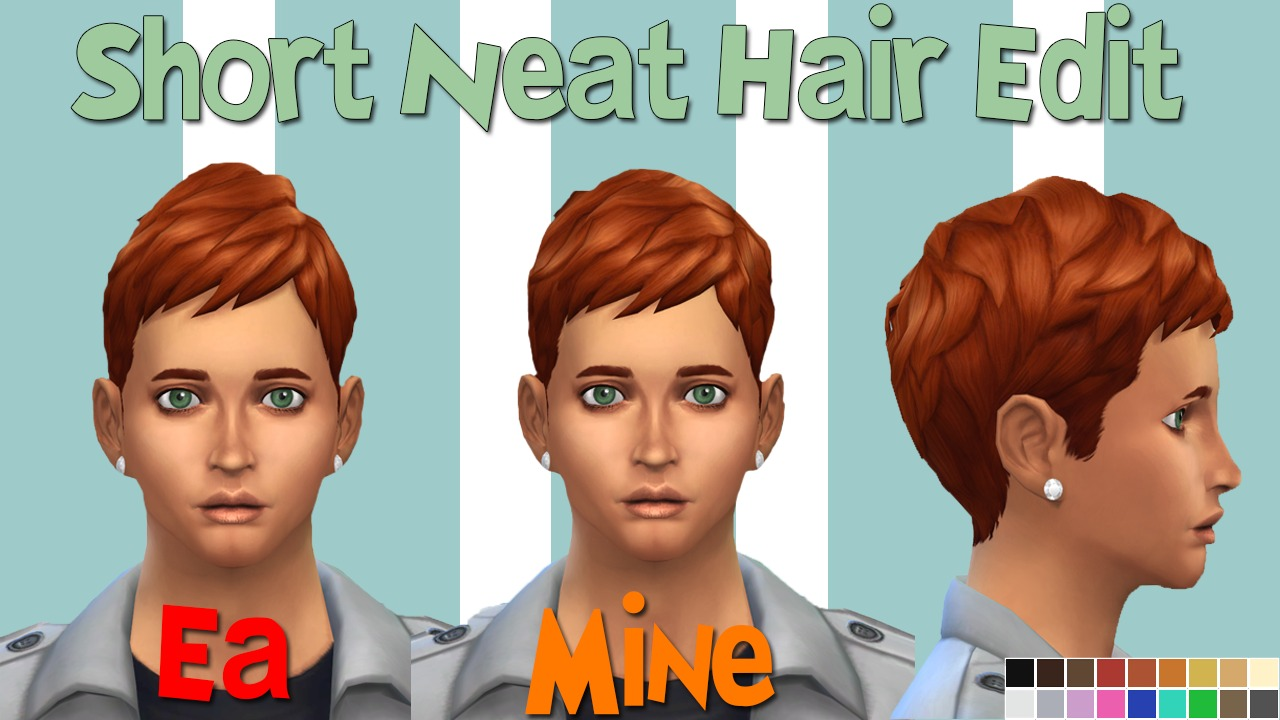 Two Edited EA Male Hair by Dylanarcadia