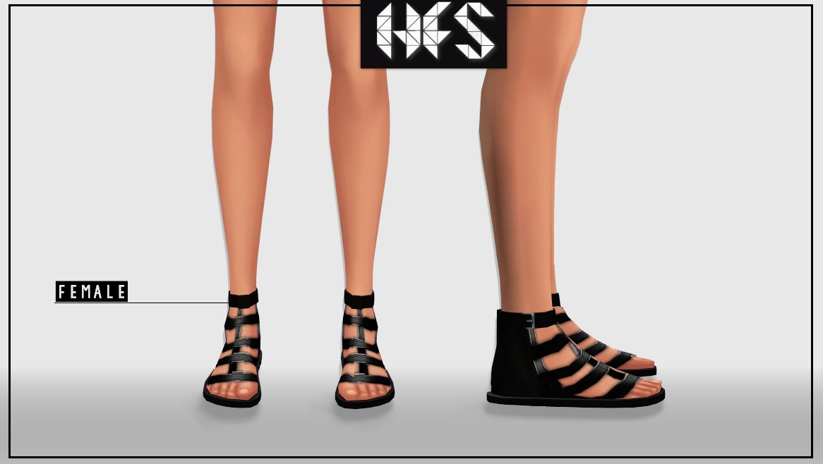 Gladiator Sandals for Males & Females by Hautfashionsims4