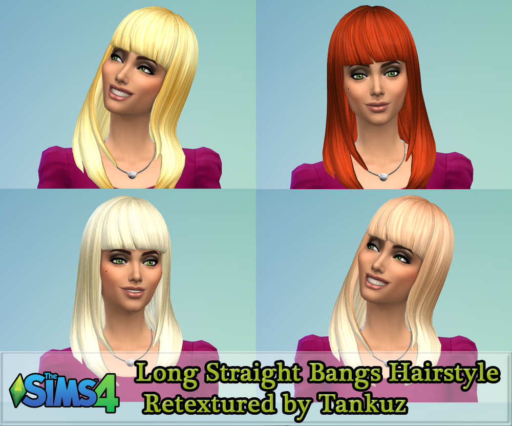 Long Straight Bangs Hairstyle Retextured by Tankuz